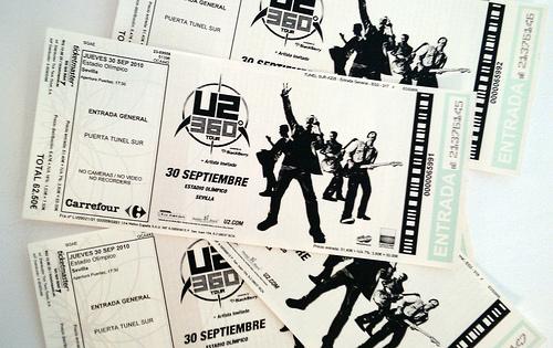 Entradas concierto U2