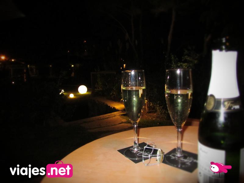 Champan de bienvenida Mallorca