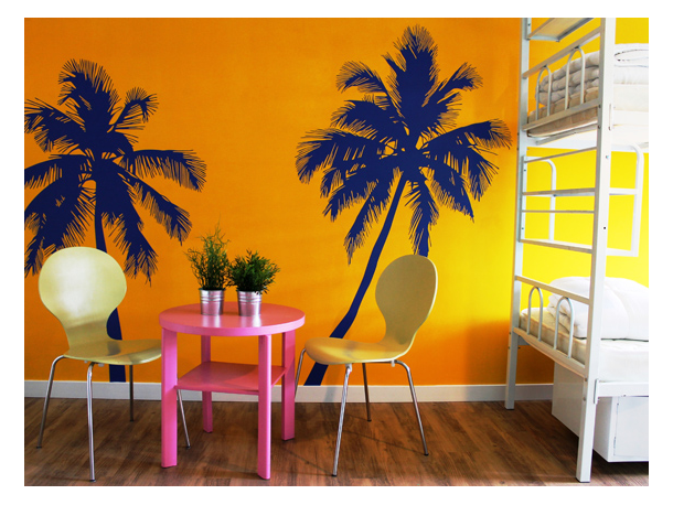 Habitación con decoración caribeña