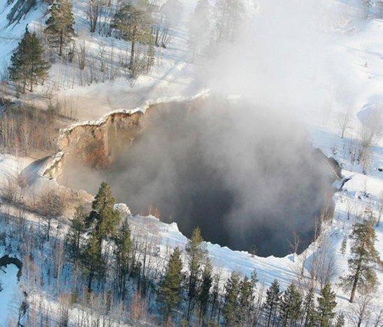 agujero en Suecia