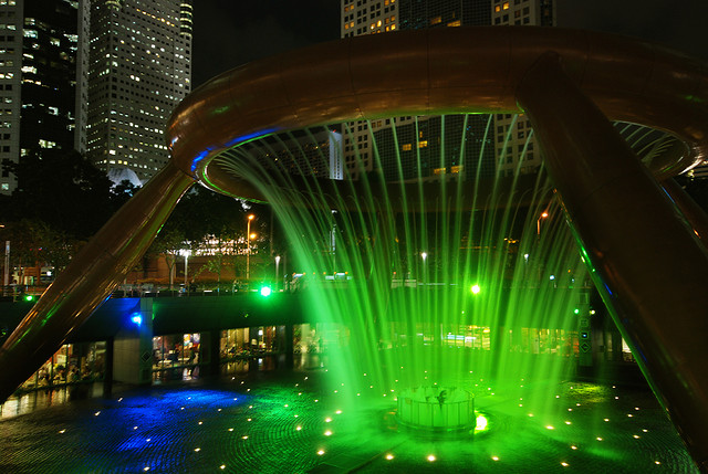 fuente de la riqueza en Singapur