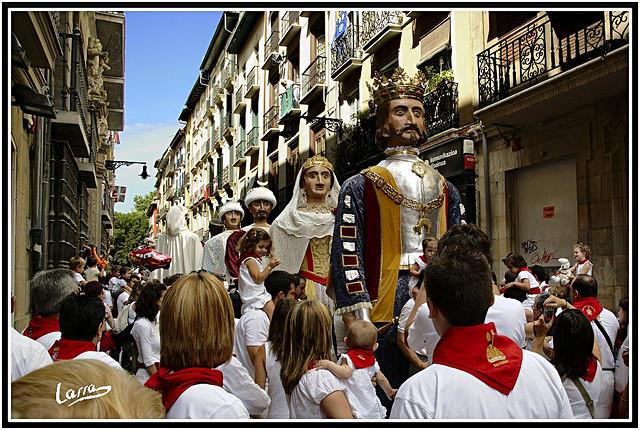 gigantes en San Fermín