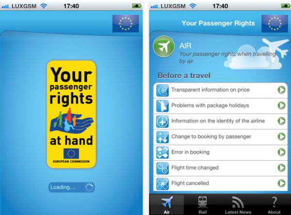 aplicacion de los derechos de los viajeros
