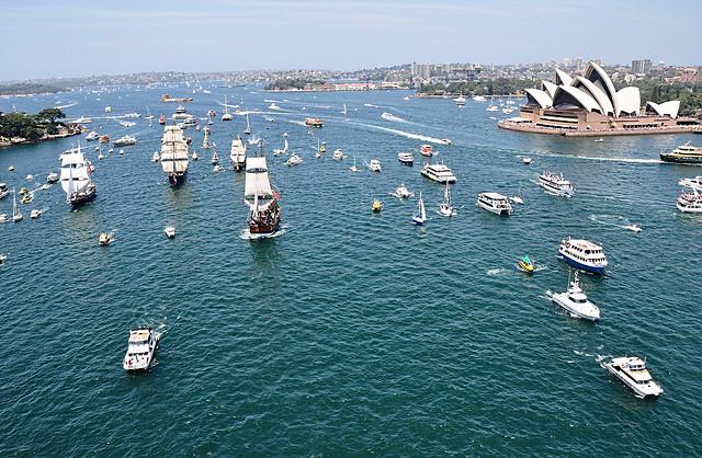 Australia lanzamiento de atunes