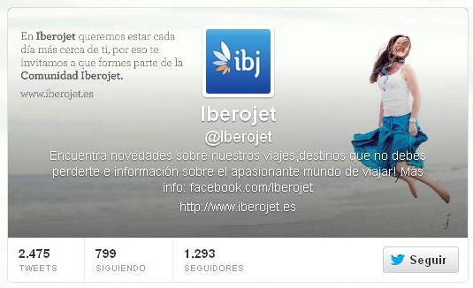 concurso en Twitter de Iberojet