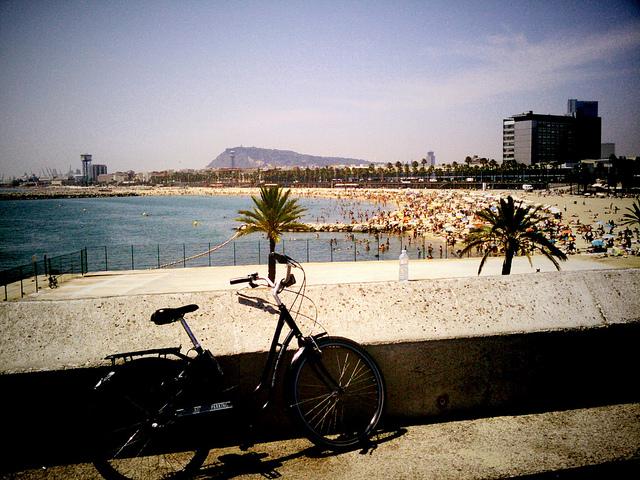 en bici por barcelona