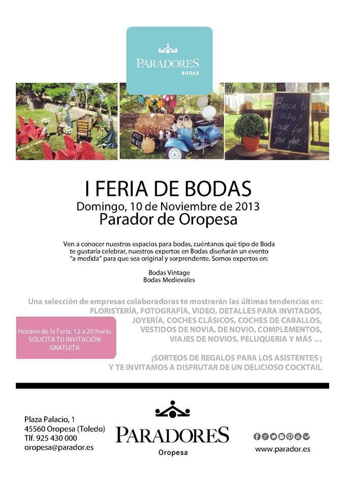 I Feria de Bodas Parador de Oropesa
